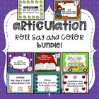Articulation Roll, Say & Color BUNDLE!!