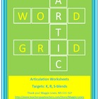 Articulation Word Grids- Freebie!