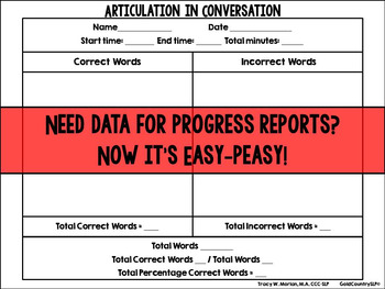 Articulation in Conversation Data Sheet Revised July 2014