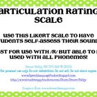 Articulation self-rating scale