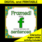 Articulation/Speech therapy activity: Fun &quot;Framed! /f/ Sentences&quot;