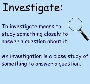 Asking Questions & Conducting Investigations - Smartboard