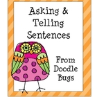Asking &amp; Telling Sentences Center Activity