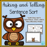 Asking or Telling Sentence Sort -