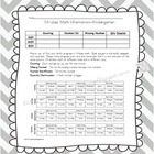 Assessment Sheet M-Class Math Kindergarten