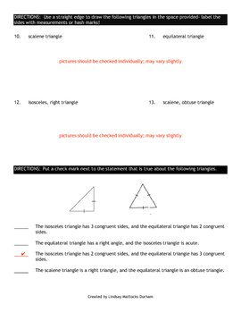 Assessment of Triangles