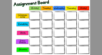 Assignment Board Printables