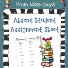 Assignment Sheet for students who are absent