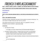 Assignment for creation of a wiki in French
