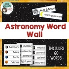 Astronomy Word Wall - 52 words & pictures included!