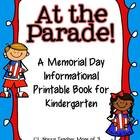 At The Parade Memorial Day Literacy Printable Book Kindergarten