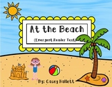 At the Beach {Emergent Reader Text}