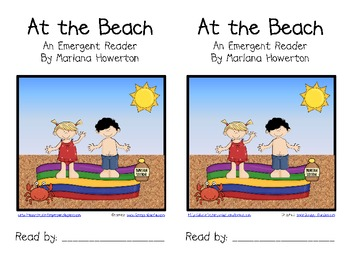 At the Beach Emergent Reader for ELA and Oceans