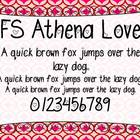 Athena Love True Type Font for Commercial Use