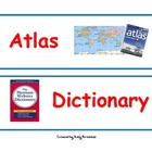 Atlas, Thesaurus, Dictionary, Encyclopedia Sorting Cards