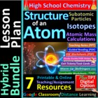 Atomic Structure 7-Product Bundle: HS Chemistry Notes, Wor