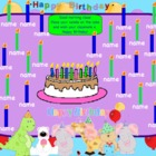 Attendance Birthday Interactive Flipchart for Promethean Board