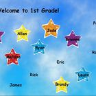 Back to School Star Attendance flipchart (28 students)