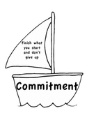 Attitude Qualities for Students Posters Using Sailboats