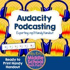 Audacity Podcasting Exporting .mp3 Handout