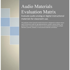 Audio Materials Evaluation Matrix