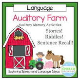 Auditory Farm- Auditory Memory Activities for Sentences, R