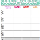 August 2013 Editable/Customizable Curriculum Planning Calendar