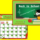 August 2014 First Grade Calendar for ActivBoard