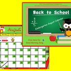 August 2013 Kindergarten Calendar for ActivBoard