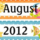 August Beach/Ocean Themed Calendar