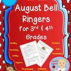 August Bell Work for 3rd &amp; 4th Grade