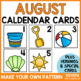 August Calendar Numbers