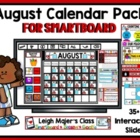 August Calendar Pack for SMARTboard
