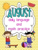 August Daily Language and Math Practice
