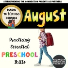 August Homework Packet: Preschool (Welcome to Preschool)