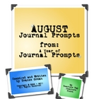 August Journal Prompts Writing Exercises