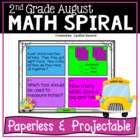 August Math Spiral Review