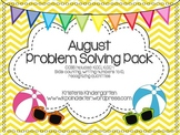August Problem Solving Pack-Common Core aligned