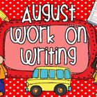 August Work On Writing Packet