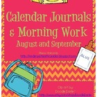 August and September Calendar Journals