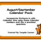 August/September Calendar Pack Freebie