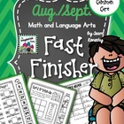 August/September Fast Finisher - Math and Language Arts