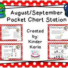 August/September Pocket Chart Station