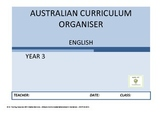 Australian Curriculum Organiser English - Y3 FREE VERSION