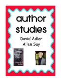 Author Studies: David A. Adler and Allen Say