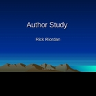 Author Study Rick Riordan Powerpoint: Lightning Thief, 39