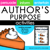 Author's Purpose: Activities, Posters & More