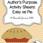 Author&#039;s Purpose Activity Sheets