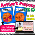 Author&#039;s Purpose Craftivity (PIE&#039;ED) for grades 4 and up