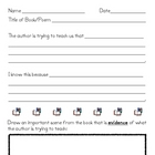 Author&#039;s Purpose Graphic Organizer/Worksheet